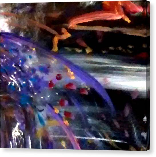 Canvas Print featuring the painting Burst Of Color by Michelle Audas