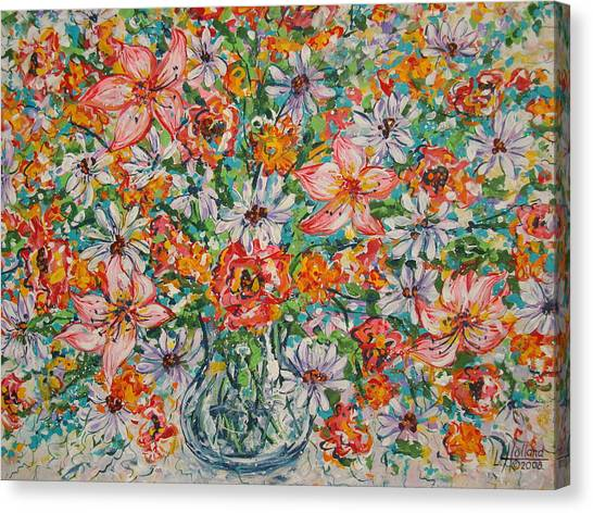 Burst Of Flowers Canvas Print