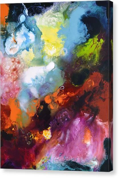 Burst Of Light Three Of Three Canvas Print