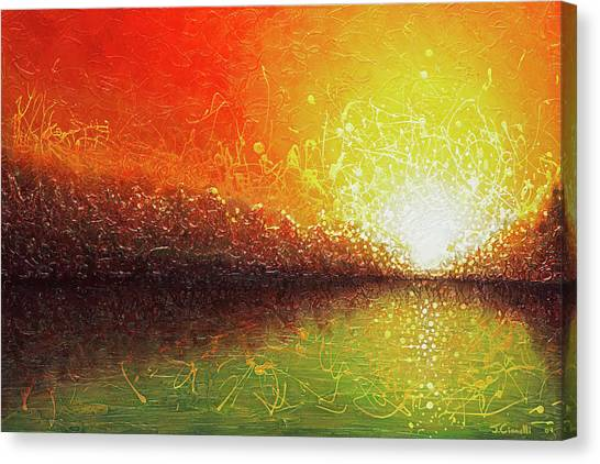 Canvas Print featuring the painting Bursting Sun by Jaison Cianelli