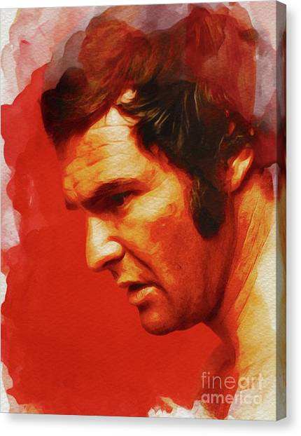 Burt Reynolds Canvas Print - Burt Reynolds, Hollywood Legend by John Springfield