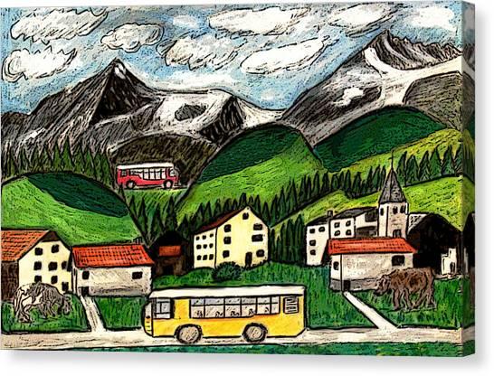 Bus Travel Canvas Print by Monica Engeler