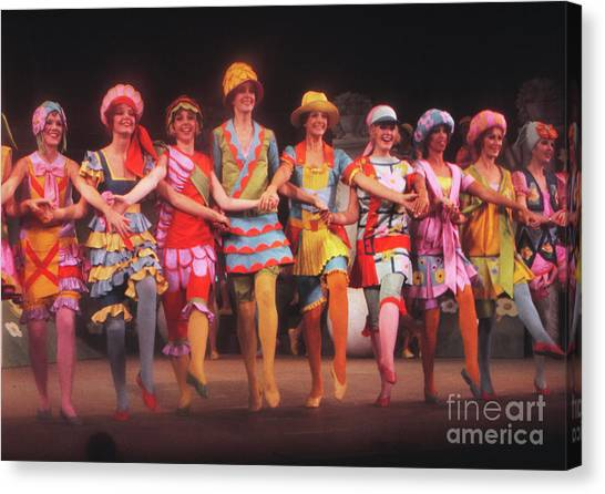 Tap Dance Canvas Print - Busby Berkeley Dancing Girls In No No Nanette by The Harrington Collection