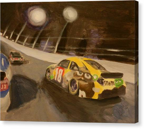 Kyle Busch Canvas Print - Busch In The Bud Shootout by James Lopez