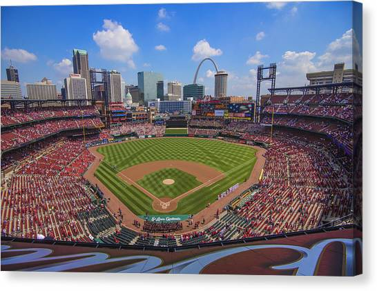 Busch Stadium St. Louis Cardinals Ball Park Village #3b Canvas Print