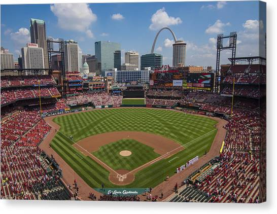 Busch Stadium T. Louis Cardinals Ball Park Village National Anthem #3a Canvas Print