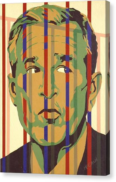 George Bush Canvas Print - Bush by Dennis McCann