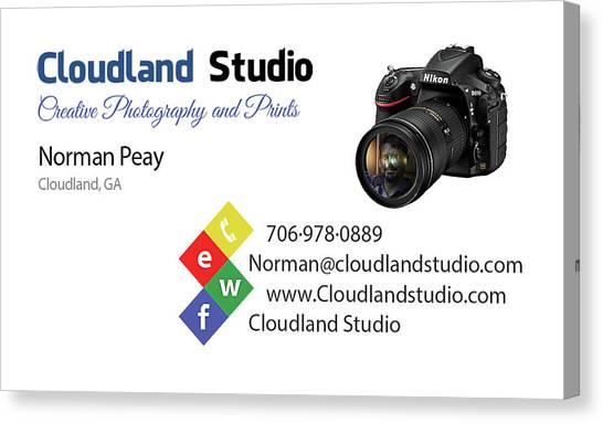 Business Card Canvas Print