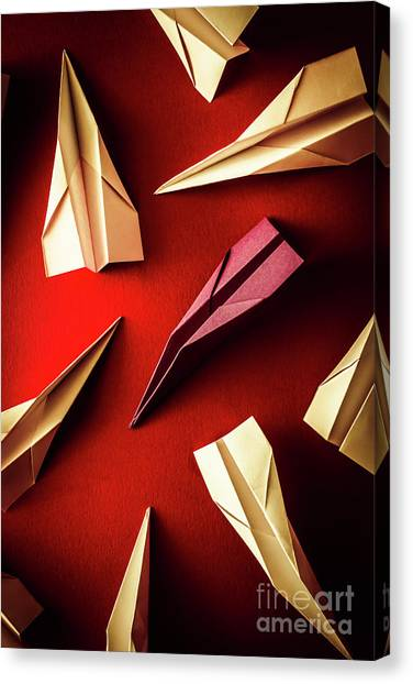 Paper Planes Canvas Print - Business Still Life With A Creative Difference  by Jorgo Photography - Wall Art Gallery