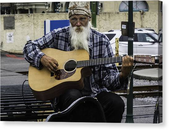 Busking In New Orleans, Louisiana Canvas Print