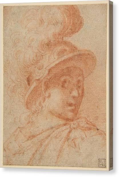 Procaccini Canvas Print - Bust Of A Warrior Wearing A Plumed Helmet, , Camillo Procaccini by Artistic Camillo Procaccini