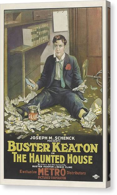 The Haunted House Canvas Print - Buster Keaton In The Haunted House 1921 by Mountain Dreams