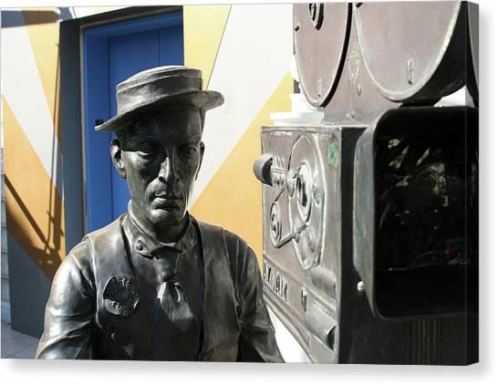 Buster Keaton On Camera Canvas Print