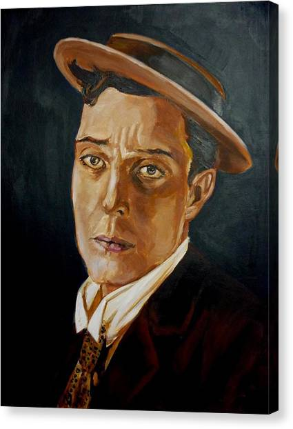 Buster Keaton Tribute Canvas Print