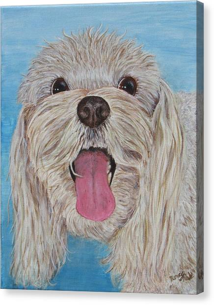 Canvas Print featuring the painting Buster by Nancy Nale