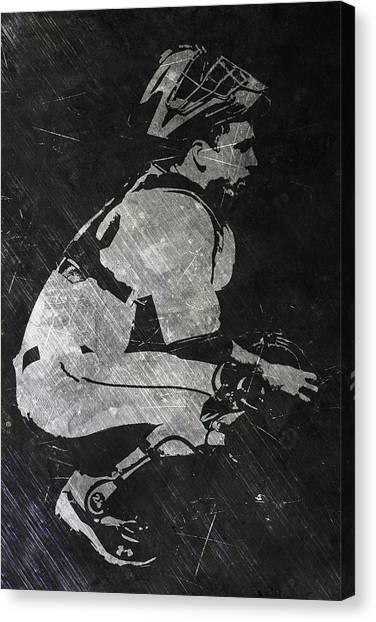 San Francisco Giants Canvas Print - Buster Posey San Francisco Giants Art by Joe Hamilton