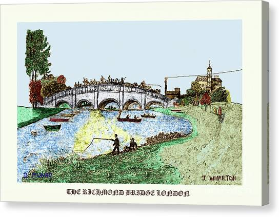Busy Richmond Bridge Canvas Print