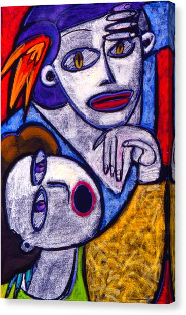 Butah Dancers Canvas Print by Angelina Marino