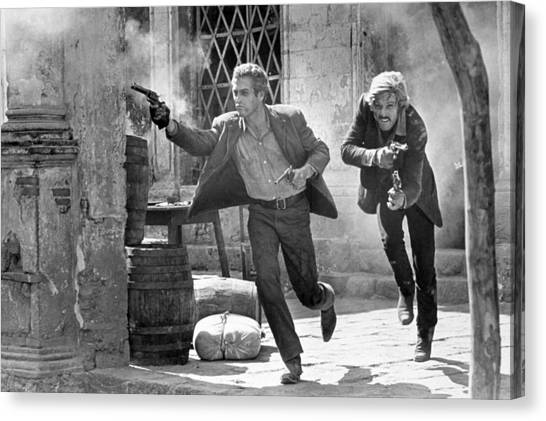 Butch Cassidy And The Sundance Kid - Newman And Redford Canvas Print