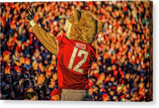 Washington State University Canvas Print - Butch T. Cougar by Ed Broberg