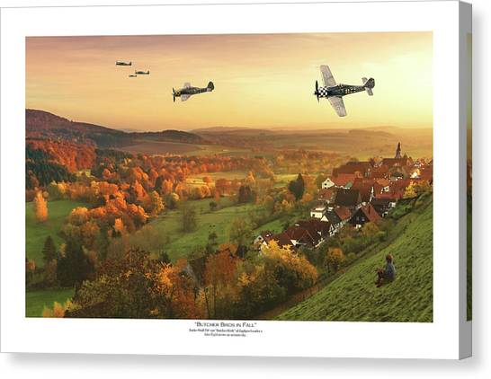 Luftwaffe Canvas Print - Butcher Birds In Fall - Titled by Mark Donoghue