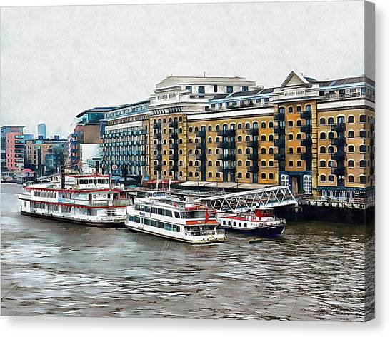 Butler's Wharf Area London Canvas Print by Dorothy Berry-Lound