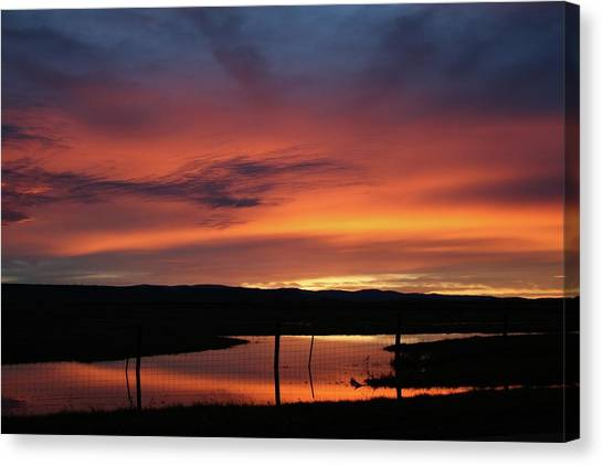Butte County Sunrise Canvas Print