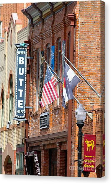 Butte Opera House In Colorado Canvas Print