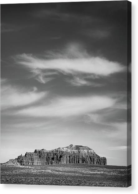 Butte With Clouds Canvas Print by Joseph Smith
