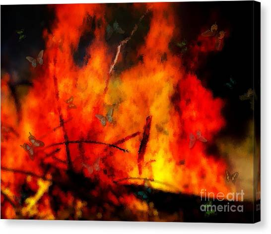 Butterflies And Flame Canvas Print