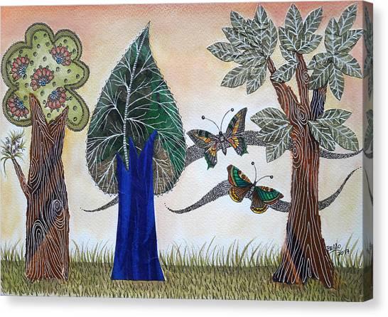 Butterflies In Love Canvas Print