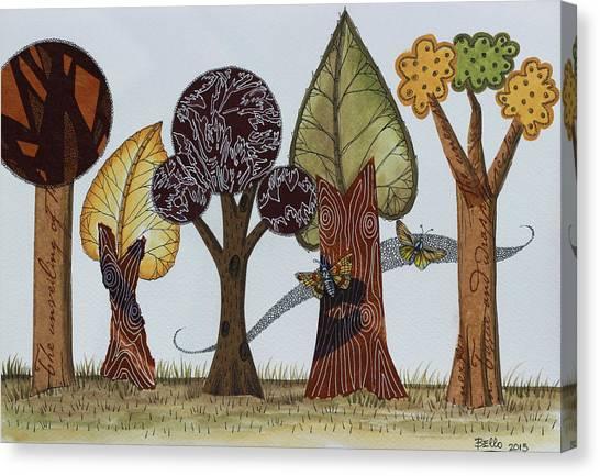 Butterflies Romance Canvas Print