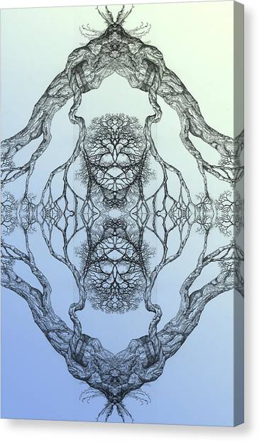 Butterflies Tree 16 Hybrid 3 Canvas Print