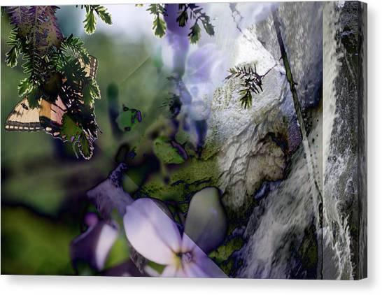 Butterfly Basket Canvas Print
