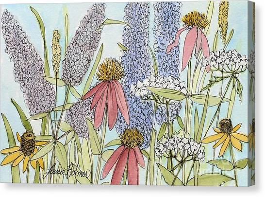 Butterfly Bush In Garden Canvas Print