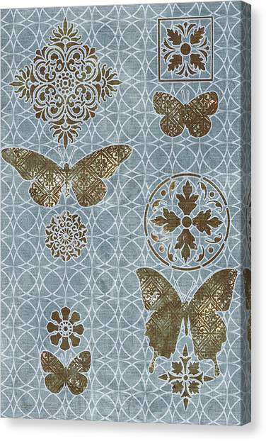 Piazza Canvas Print - Butterfly Deco 1 by JQ Licensing