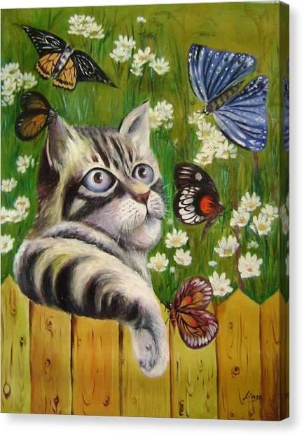 Butterfly Dream Canvas Print by Lian Zhen