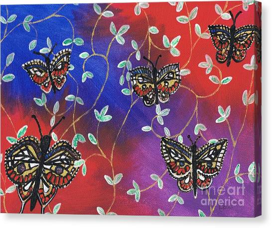 Butterfly Family Tree Canvas Print