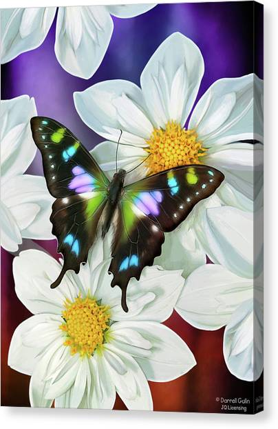 Songbirds Canvas Print - Butterfly Flowers by JQ Licensing