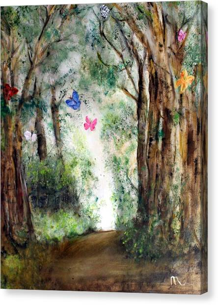 Butterfly Forest Canvas Print by Michela Akers