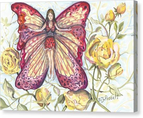 Butterfly Grace Fairy Canvas Print