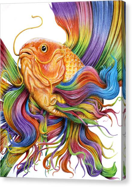 Koi Pond Canvas Print - Butterfly Koi by Cuong Van