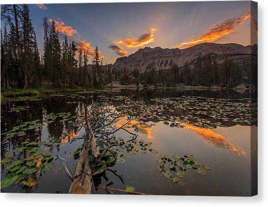 Uinta Canvas Print - Butterfly Lake Sunrise. by Johnny Adolphson