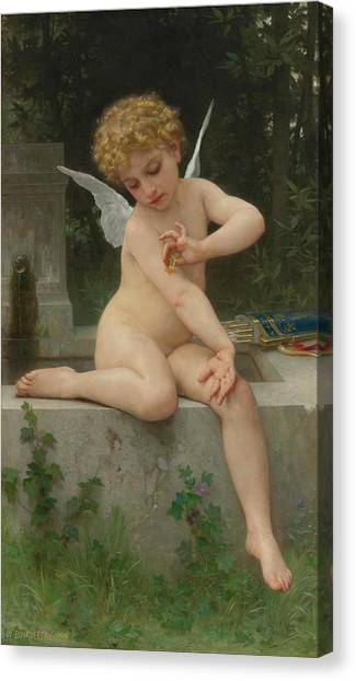 Academic Art Canvas Print - Butterfly Love by Adolphe William Bouguereau