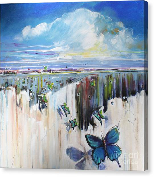 Butterfly Canvas Print by Michele Hollister - for Nancy Asbell