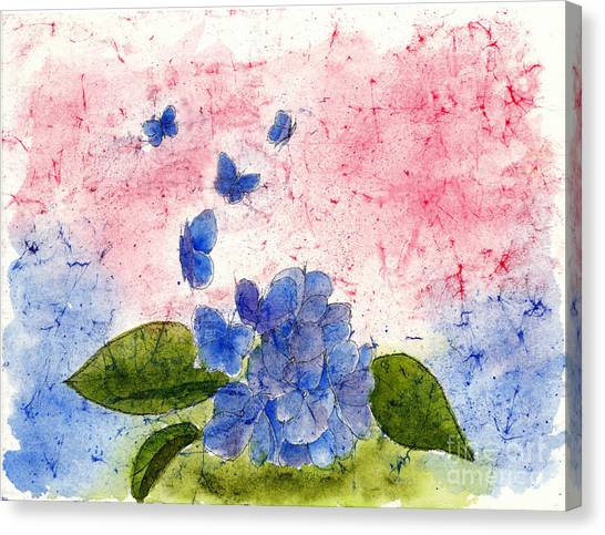 Butterflies Or Hydrangea Flower, You Decide Canvas Print