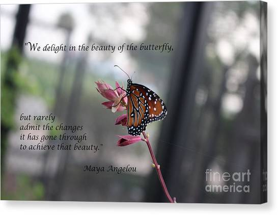 Butterfly Quote Art Print Canvas Print