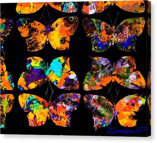 Butterfly Rows  Series 2 Canvas Print by Teodoro De La Santa