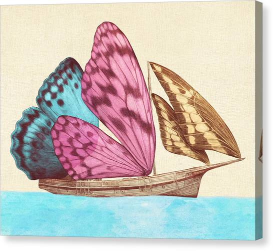 Butterflies Canvas Print - Butterfly Ship by Eric Fan