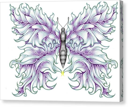 Butterfly Tattoo 2 Canvas Print